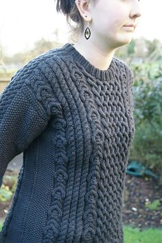 Ravelry: Project Gallery for Foothill Road Aran pattern by Janet Szabo