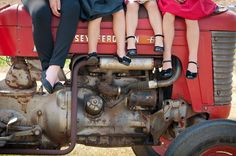 Tractor Farm Family Photo Photo By Amanda Erickson Design www.amandaericksondesign.com
