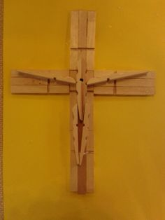 Easy peg cross - saw it at an Easter craft day - perfect activity for kids!