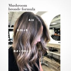 I get asked for formulas all the time and here's one that's frequently asked! Personally formulas don't help me much, it's… Ombre Hair Color, Hair Color Balayage, Cool Hair Color, Brown Hair Colors, Hair Highlights, Redken Hair Color, Good Hair Day, Great Hair, Hair Color Placement