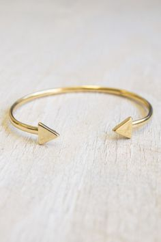 Gold Arrow Bracelet | Fringe and Lace