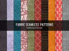 A new set of free patterns: 10 seamless fabrics. free to use for both personal and commercial projects. Attribution is not necessary, but always highly appreciated - See more at: http://webdesignerlab.com/resources/fabric-seamless-patterns/#sthash.bTomb3oo.dpuf