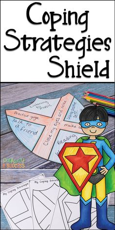 Teach kids that coping strategies are their shield from stress and tough emotions! Kids will create their own coping strategies shield, add strategies, and color it in! Perfect for a superhero theme or just to make these social emotional skills fun!