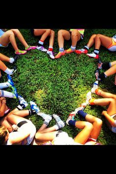 soccer team photos ideas or with colorful running spikes!