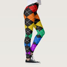 "#personalize - #Rainbow ""Ugly Sweater"" leggings"