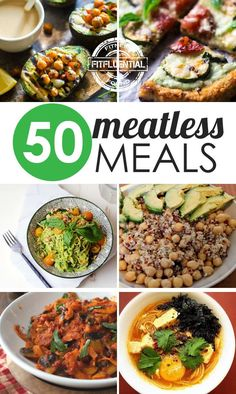 Go meat-free with these veggie meals! Enjoy them for #MeatlessMonday or make them last all week long. #FitFluential #vegetarian #vegan #healthyliving