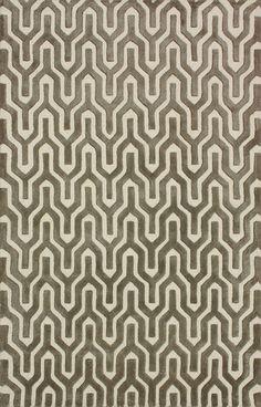 Ashram Trellis Wool and Viscose Area Rug in Nickel design by NuLoom
