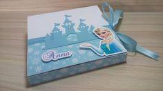 Convite Frozen - Caixa de Neve