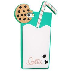 Lolli Swim 'Milk N' Cookies' iPhone 6 & 6s Case ($29) ❤ liked on Polyvore featuring accessories, tech accessories and lolli swim