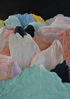 Luciana Novo por Laura Salguero - Possibility of landscape Fases del proceso… Modern Art, Contemporary Art, Mountain Images, Color Shapes, Color Stories, Installation Art, Textures Patterns, Art Inspo, Art Direction