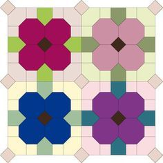 Image result for english paper piecing flowers with squares