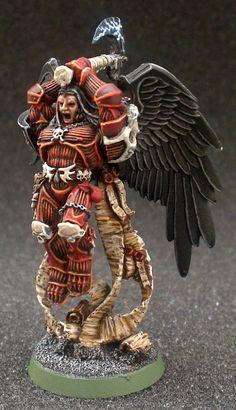 Astorath the grim – OnTableTop Warhammer 40k Blood Angels, Warhammer 40k Figures, Warhammer Models, Warhammer 40k Miniatures, Warhammer 40000, The Grim, Space Marine, Sculpting, Sci Fi