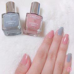 - only nails Gel Nail Art, Cute Nail Art, Cute Nails, Korean Nail Art, Korean Nails, Nail Color Combinations, Garra, Self Nail, Fall Acrylic Nails