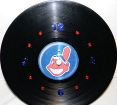 CLEVELAND INDIANS Vinyl Record Wall Clock by PandorasCreations, $25.00