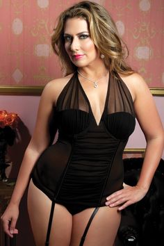 Perfectly Glamourous Bustier & Thong Plus Size Lingerie or Plus Size Corset, Plus Size Lingerie, Beautiful Lingerie, Sexy Lingerie, Seductive Lingerie, Bustiers, Affordable Lingerie, Full Figured Women, Mode Style