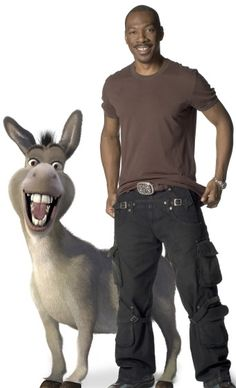 "EDDIE MURPHY voices Donkey in DreamWorks ""Shrek the Third,"" to be released by Paramount Pictures in May DreamWorks Animation S. Presents a PDI/DreamWorks Production, DreamWorks ""Shrek the Third. Eddie Murphy, Donkey In Shrek, Dreamworks, Pixar, Stand Up Comedians, Animation, Voice Actor, Funny People, Movie Stars"