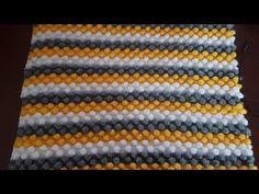 Baby Knitting Patterns, Crochet Patterns, Bobble Stitch, Popcorn, Blanket, Youtube, Crochet Stitches, Dots, Tejidos