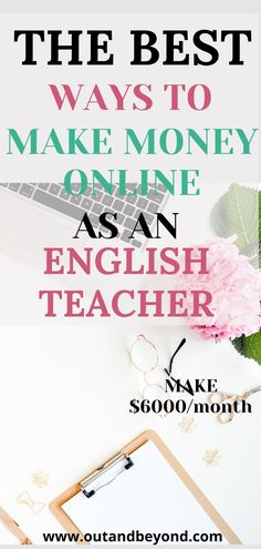 One of the best side hustles you can imagine! Work from home and make money online as an english teacher! Save up your earnings and spend it on a holiday or pay off your debt! Online Teaching Jobs, Online Jobs, Teaching Resources, Extra Money Jobs, Online English Teacher, Companies Hiring, Job Website, Online Classroom, Online Lessons