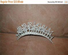 FALL SALE Pearl Tiara Comb Bridal Headpiece