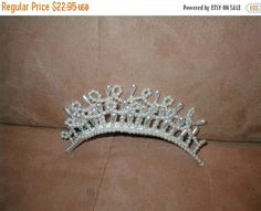 FALL SALE Pearl Tiara Comb Bridal Headpiece