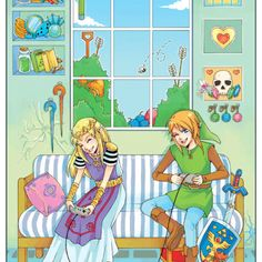 Link and Zelda....okay this is really cute