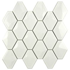LOVE THIS TILE! SomerTile Chevron 10.5x11 Glossy White Porcelain Mosaic Wall Tile (Pack of 10)