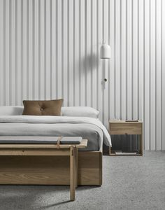 The AOB bed base is designed by Melbourne–based Australian furniture designer Made by Morgen and is part of their collection of Scandinavian furniture. Decor, House Interior, Bedroom Bliss, Furniture, Bed, Interior, Bedroom Furniture, Home Bedroom, Home Decor