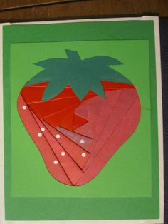 Iris Paper Folding Strawberry Card  www.caguimbalcreations.weebly.com
