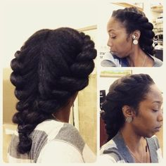 Two strand flat twists (This style was done on my natural blown out hair.)KinkyCurlyRelaxedExtensionsBoard
