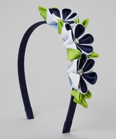 Love this Navy Triple-Flower Headband by Loopy Loos on #zulily! #zulilyfinds