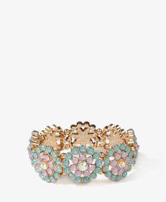 Sparkling Flower Bracelet | FOREVER21 - 1020145841