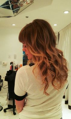 where highlights start with bangs