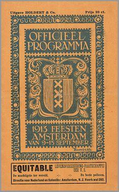 Officieel Programma 1913 Feesten Amsterdam van 9-15 september
