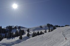 Big wide blues in Morillon,France, Grand Masiff. Access from Chalet Cimbria