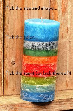 Custom Designer Candles to Match Your Home's Decor --  https://www.etsy.com/listing/537484142/custom-designer-candles-to-match-your