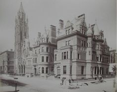 680 & 684 Fifth Ave Residences |  684 Fifth Ave was built as wedding gift of William H. Vanderbilt for his daughter Florence and her husband Hamilton Twombly. The other mansion (left) at 680 was the home of his daughter Eliza Osgood Vanderbilt Webb and her husband, Dr. William Seward Webb.