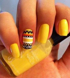 Maybe with orange to bring out design nail.