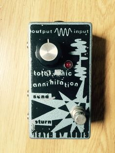 Death By Audio Total Sonic Annihilation Guitar Boost Loop Effects Pedal #DeathByAudio