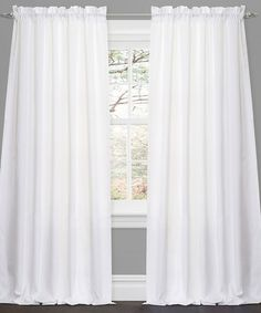 Take a look at this White Lucia Window Curtain Panel - Set of Two by Lush Décor on #zulily today!