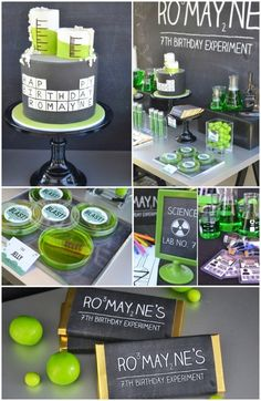 One of the coolest birthday themes ive seen! Mad Science Birthday Party Food Ideas