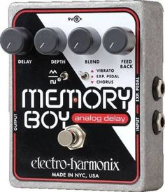Buy your Electro-Harmonix Memory Boy Analog Delay with Chorus/Vibrato Guitar Effects Pedal from Sam Ash and receive the guaranteed lowest price. Guitar Effects Pedals, Guitar Pedals, Triangle Wave, Guitar Shop, Candy Apple Red, Pedalboard, Memories, Boys, Musical Instruments