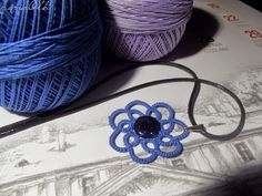 tatting lace, frywolitkowy wisiorek