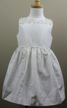 JCrew Crewcuts $228 Girls Silk Taffeta Maisie Dress 12 ivory wedding party 03168 #JCrewCrewcuts #DressyHolidayPageantWedding