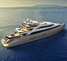M/Y 50m designed by @robertocurtodesign Property of @robertocurtodesign #design #yachtdesign #exteriordesign #megayacht #superyacht #yacht #boatdesign #navaldesign #navalarchitecture #bigtoys #billionairetoys #yachts #megayachts #superyachts #render #rendering #3dmodeling #italiandesign #motoryacht #poweryacht #instayacht #yachtporn #designer #designconcept #designs