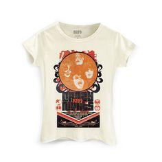 Camiseta Feminina Kiss Retro #Kiss #Rock #CrazyNights