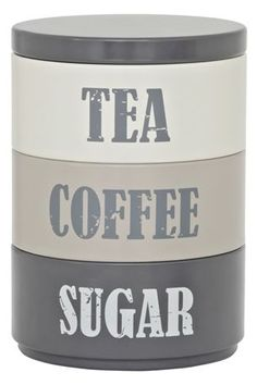 1000 images about tea coffee sugar tins on pinterest tins coffee tea and teas - Tea coffee sugar stacking canisters ...