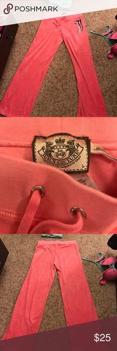 Juicy couture sweat pants Velour fabric..size large. No tags but I have literally never warn them. They have just been stuffed in my drawer. Juicy Couture Pants Track Pants & Joggers