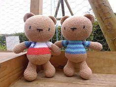 Teddy bear free crochet pattern ( in Spanish )