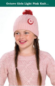 f48e9a753fd Octave Girls Light Pink Knitted Pom Pom   Bobble Hat With Round Flower  Detail. OCTAVE® Girls Denim Blue Striped Knitted Pom Pom   Bobble Hat.
