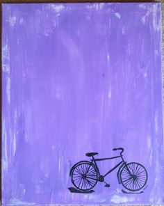 Bicycle 16x20 original acrylic painting